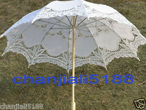 Battenburg-5-colors-Ivory-white-black-red-Lace-Parasol-Umbrella-Wedding-Bridal