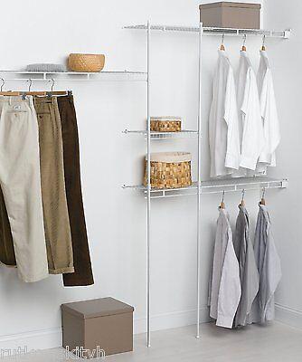 Closetmaid White Economy 5 to 8-Foot Shelf & Rod Closet Organizer Kit