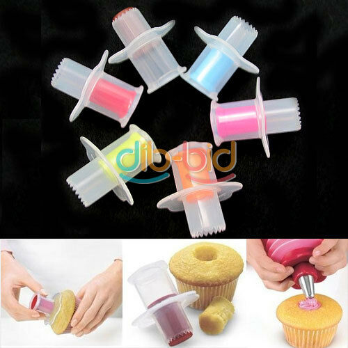 Cupcake Plunger Cutter Pastry Corer Decorating Divider Cake Filler Kitchen DB