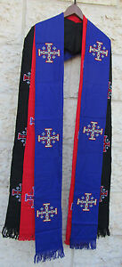 Clergy-Priest-Stole-Jerusalem-Cross-Black-Green-White-Red-Purple