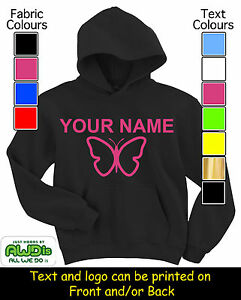 PERSONALISED-GIRL-039-S-BUTTERFLY-HOODIE-HOODIES-GREAT-GIFT-FOR-A-CHILD-amp-NAMED