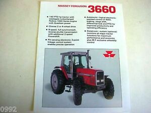 Details about Massey Ferguson 3660 2WD & 4WD Farm Tractor Spec Sheet 1990 2  Page Very Good