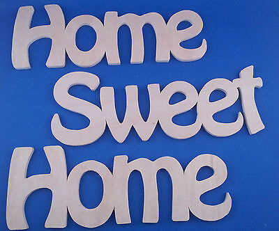 """Wooden Plaque Word Letters """"Home Sweet Home"""" Home Wall Door Decoration"""