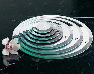 Tripar Wide Beveled Round Glass Mirror, Choose Size