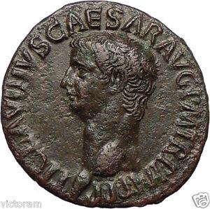 Emperor-CLAUDIUS-the-5th-of-12-CAESARS-Rome-41-AD-Copper-As-LIBERTAS-Superb