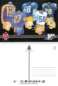 CFL-Postcard-Old-Vintage-History-Jerseys-Winnipeg-Blue-Bombers-NEW