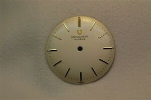 Universal-Geneve-Vintage-dial-NOS-26-4-mm-silver-with-gold-markers