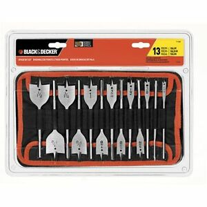 Black-amp-Decker-13-Piece-Spade-Bit-Set-with-Softcase-71-536