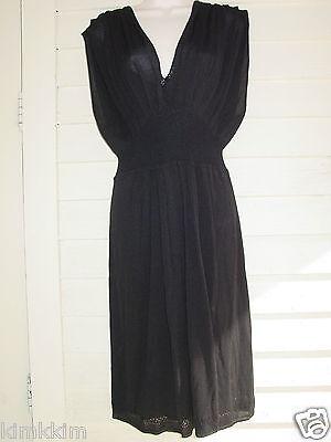 BANANA REPUBLIC 56% silk,44% rayon black knit dress/lined! NICE! WL
