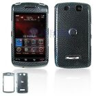 Carbon Fiber Design Snap-On Cover Hard Case Cell Phone Protector for BlackBerry 9500 Storm 9530 Thunder