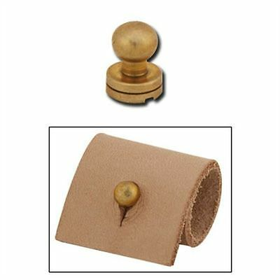 "Screwback 1/4"" (7 mm) Brass Plated Button Stud 11309-01 by Tandy Leather"