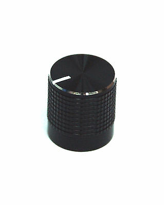 10pc Aluminum Insert Type Knob KNB004 size=φ14x15mm Hole=18T Color=Black RoHS