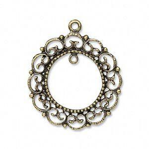 Cabochon frame pendant wreath filigree steampunk brass jewelry lot image is loading cabochon frame pendant wreath filigree steampunk brass jewelry aloadofball Gallery