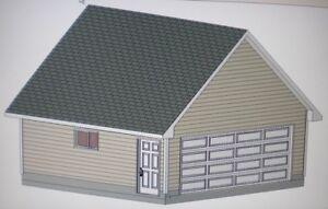20 39 x 20 39 garage shop plans materials list blueprints for Garage material list