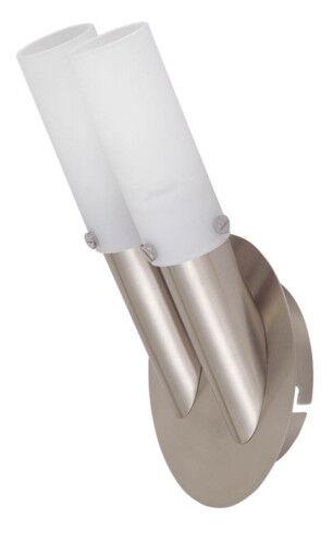 Wandleuchte Fedor 1-2 flammig Lampe energiesparend Nickel Glas weiß Wandlampe