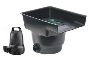 1200 gph pond pump and 14 inch wide waterfall filter for Aquagarden 1200 pond pump