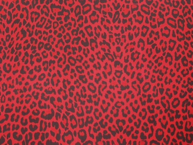 RED LEOPARD SPANDEX LYCRA SP-11 FABRIC $11.99/YARD