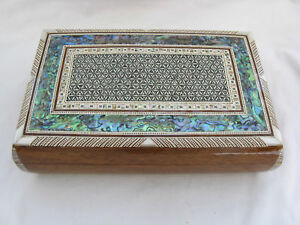 Egyptian-Mother-of-Pearl-Wooden-Inlaid-Jewelry-Box-10-5-X-6-5