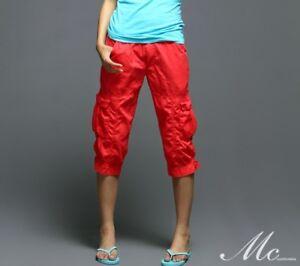 Women-039-s-capri-cropped-trousers-cargo-pants-SZ-26-30