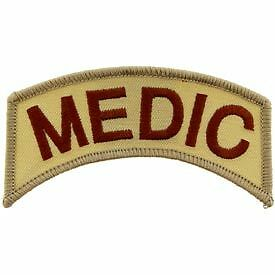 ARMY MEDIC DESERT SHOULDER ROCKER TAB EMBROIDERED MILITARY PATCH