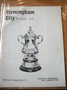 28011969 Birmingham City v Sheffield Wednesday FA Cup Creased amp Folded No - <span itemprop=availableAtOrFrom>Birmingham, United Kingdom</span> - Returns accepted within 30 days after the item is delivered, if goods not as described. Buyer assumes responibilty for return proof of postage and costs. Most purchases from business s - Birmingham, United Kingdom