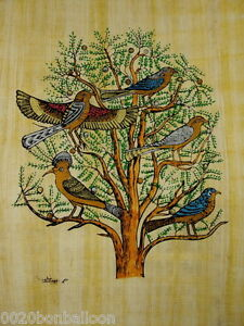 Original-Hand-Painted-Papyrus-8-034-x12-034-20x30-CM-Tree-of-Life-Egyptian-pharaoh