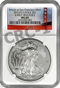 2012-S-SAN-FRANCISCO-SILVER-EAGLE-NGC-MS69-EARLY-RELEASES
