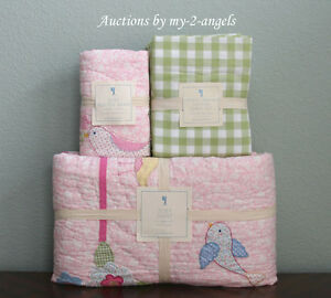 Pottery Barn Kids Zoey Bird Twin Quilt Sham Cottage