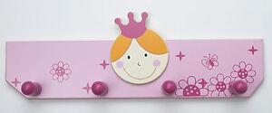 Hochwertige-Kindergarderobe-mit-4-Haken-Holz-rosa-350x65x115-mm-3852