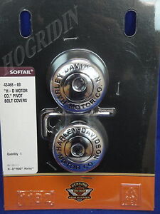 Harley motor company softail fxst flst swingarm pivot bolt cover set    43468-00