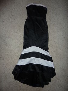 Faviana-New-York-black-white-Formal-Gown-Long-Dress-5-6-NWT