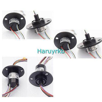 22mm 6 2A 6 Conductors Capsule Compact Slip Ring 220V AC 250Rpm F/ Cctv Robotics