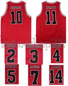 c7e7c5fe1 Image is loading Slam-Dunk-SlamDunk-Shohoku-Basketball-Jersey -Cosplay-Costume-