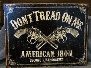 Tin-Sign-Don-039-t-Tread-On-Me-2nd-Amendment-Pistols