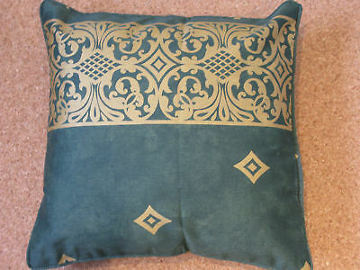 1  CUSHION COVER . INDIANA GREEN WITH GOLD