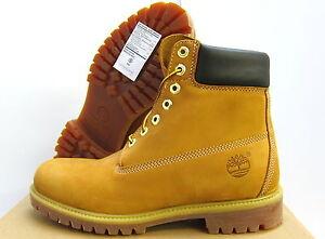 New Mens Timberland 6 Inch Waterproof Premium Boots 10061 Wheat Ebay