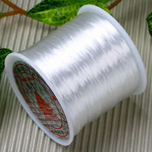 0-5mm-White-Strechy-Bracelet-Crystal-Thread-String-Cord