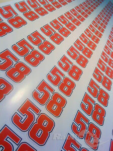 Marco Simoncelli 58 Race Numbers Stickers Decals Graphics