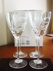 Vera wang wedgwood love knots wine glasses goblets crystal set 4 new box ebay - Vera wang goblets ...