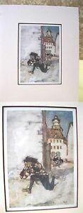 Vintage-Print-ONLY-ONE-ONLY-ONE-Arthru-Rackham-Matted-1912