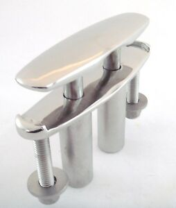 New-GEM-Flush-4-1-2-Polished-316-Marine-Stainless-Steel-Pull-Pop-Up-Boat-Cleat
