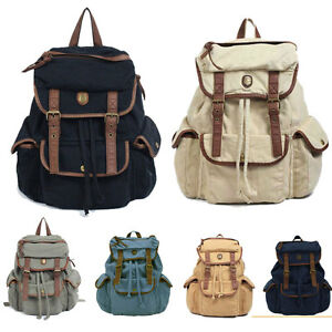 Image Is Loading Ma995 New Women 039 S Canvas Backpacks Satchel