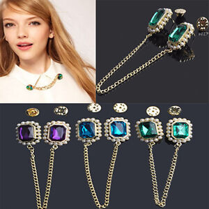 Fashion-Retro-Punk-Rock-Gem-Chain-Choker-Collar-Pendant-Necklace-Brooch-3-Color