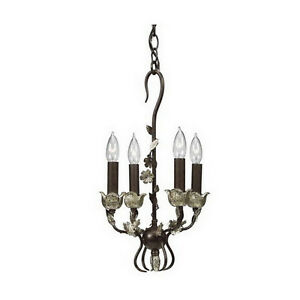 Kichler-Wrought-Iron-with-Silver-Pendant-Chandelier