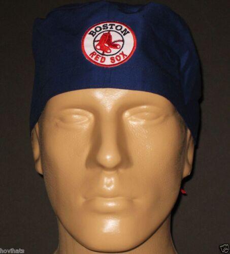 BOSTON RED SOX ROUND LOGO NAVY SCRUB HAT MLB RARE / FREE CUSTOM SIZING!