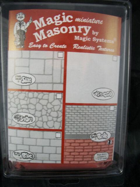"""Magic Masonry"" Red Brick Kit dollhouse miniature SW502R 1/12 scale  4.5 sqft"