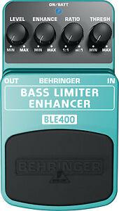 BEHRINGER BASS LIMITER ENHANCER BLE400 Pedal /Stomp Box
