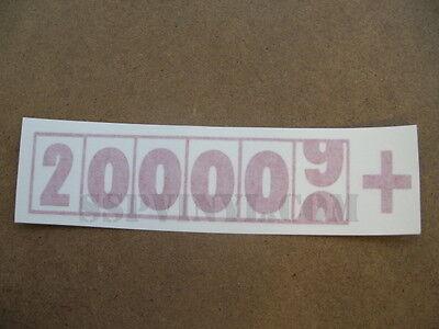 200,000+ Miles Decal Import Euro Stance JDM Drift Sticker