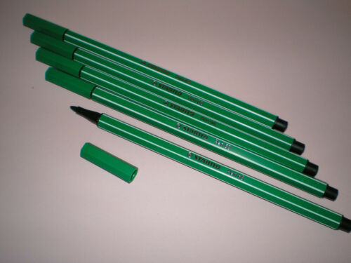 5x Stabilo PEN 68 smaragdgrün Fasermaler Strichstärke 1,0 mm 68//36 NEU