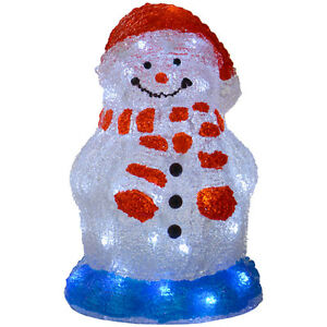 30cm-Acrylic-Light-Up-Christmas-Snowman-Decoration-Lamp-White-LED-Lights-Mains